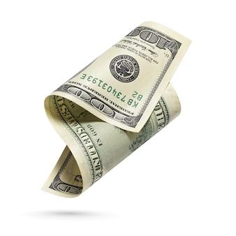 Банкнота валюты соединенных штатов изолированная на белизне.