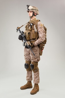United states marine corps special operations command  raider with weapon.