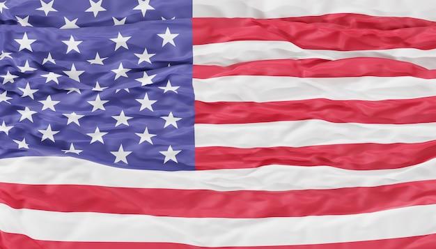 Фон флага соединенных штатов америки, 3d визуализация