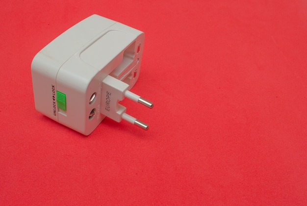 Universal socket adapter with colored background