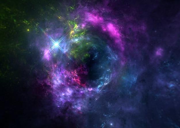Вселенная вся существующая материя и пространство рассматривается как единое целое космос. сцена со звездами и галактиками в космосе, показывающая красоту освоения космоса.