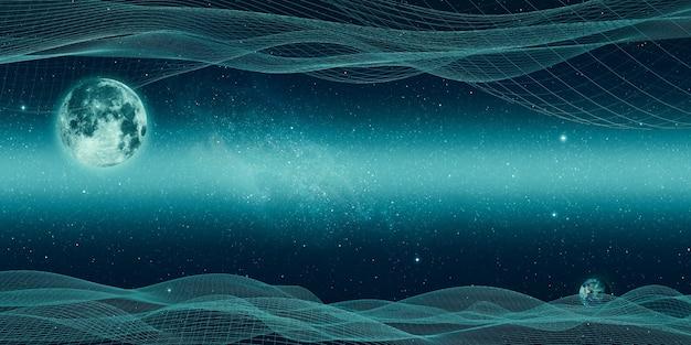 우주와 선, 구조, 디지털 연결