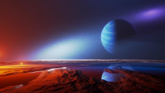 Вселенная и космос, исследование поверхности планеты.