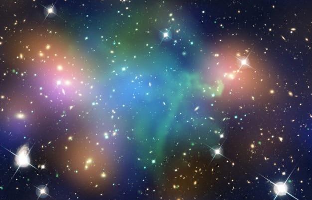 Universe colourful nebula