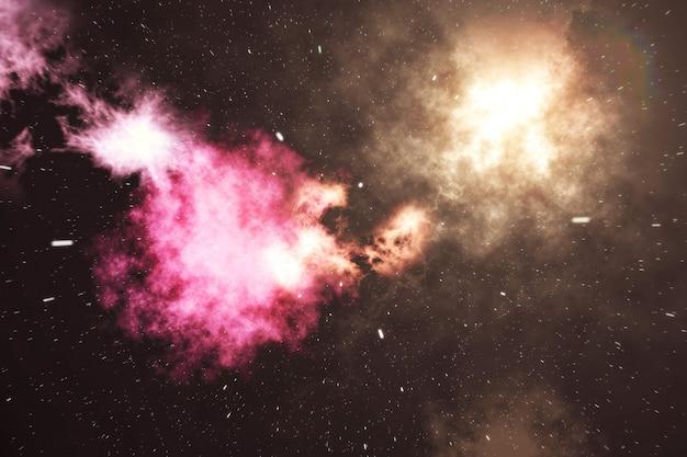 Вселенная, заполненная звездами, туманностью и галактикой, космическая пыль во вселенной, красивый фон со звездами, 3d-рендеринг