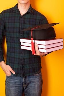 University man is happy with graduation