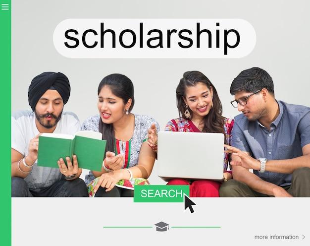 University scholarship webpage