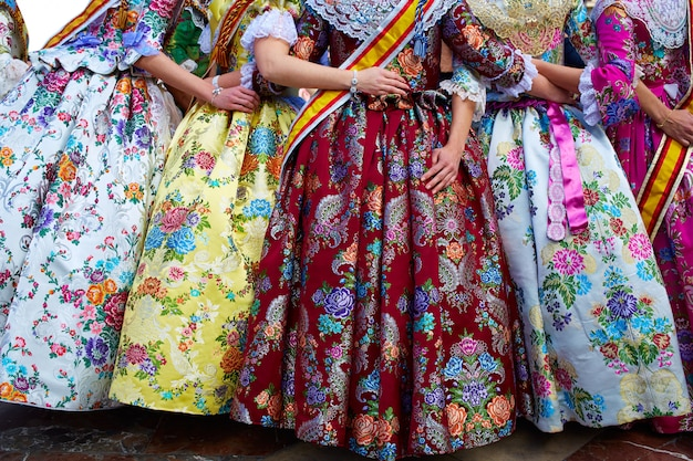Unknown falleras dress from valencia fallas fest