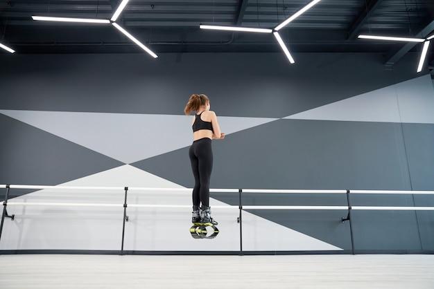 인식 할 수없는 소녀 연습 kangoo 홀에서 점프