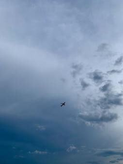 Unrecognized airplane in the sky