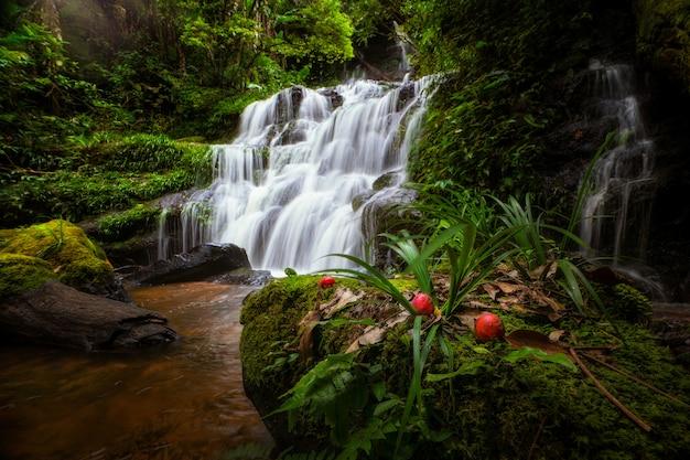 Unseen man daeng water fall in phuhinrongkla park