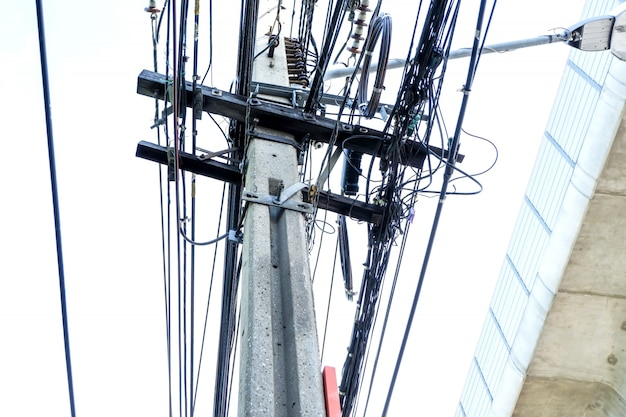 Untidy electricity cable