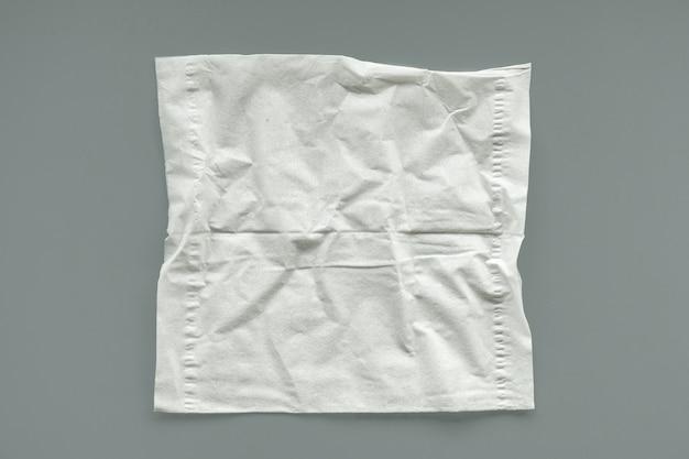 Unused crumpled white tissue