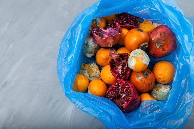 Неиспользованные фрукты и овощи