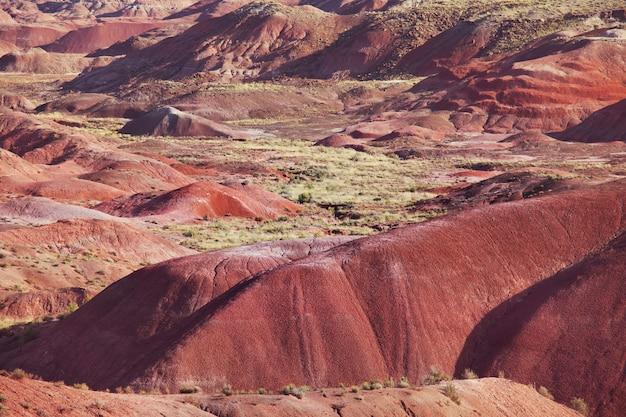 Unusual badlands landscapes in utah ,usa