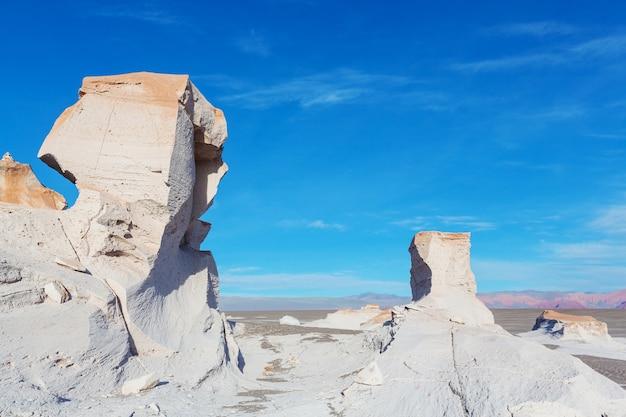 アルゼンチン北部の珍しいカンポデピエドラペメス、砂漠の石灰岩の岩層