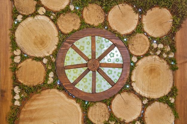 결혼식의 장식 및 기타 조치를 위한 특이한 장식 꽃 나무 패브릭 양초
