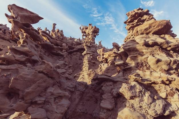 Необычный каньон фэнтези в пустыне юта, сша.
