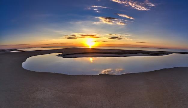 시바시 호수의 특이한 섬, 평면도, 무인 항공기 카메라