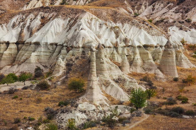 トルコ、カッパドキアの異常な岩層