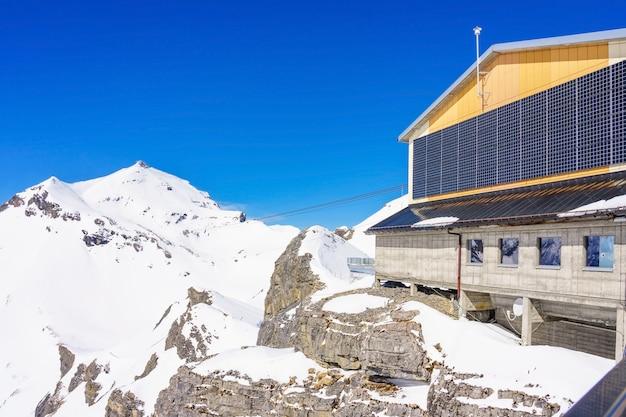 Upper station birg in swiss alps in murren
