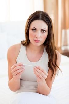 妊娠中の女性の検査結果