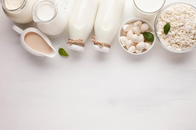 Upside down arrangement of milk