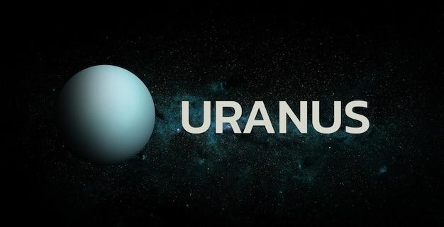 Уран на космическом фоне. элементы этого изображения предоставлены наса.