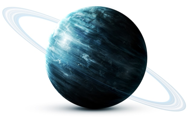Uranus in the space, 3d illustration.