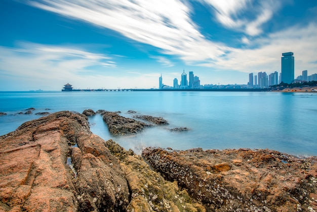 Urban architectural landscape in qingdao