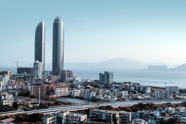 Городской пейзаж архитектуры в районе симинг, сямэнь, китай