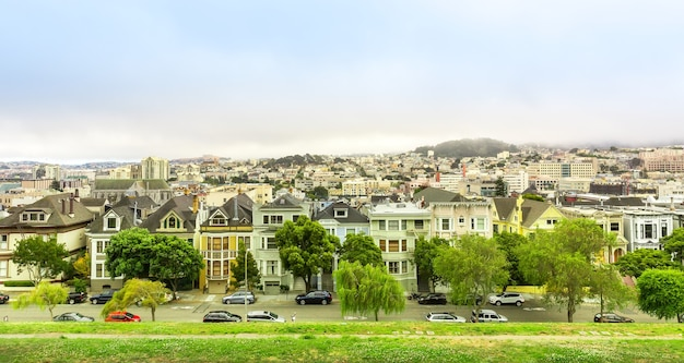 Urban architecture with skyline in san francisco