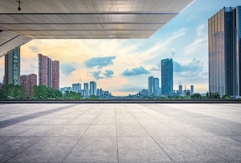 Urban business downtown china financial