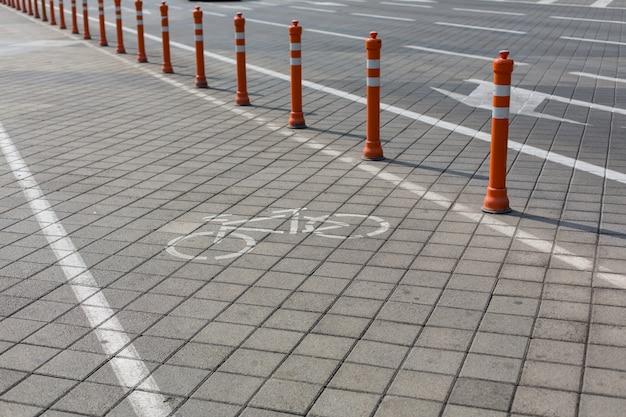 都市のciclyngレーン、自転車道、自転車道、自転車レーン