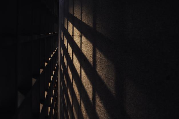 Urban dark background with square shadows