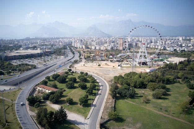 Urban landscape of antalya town.