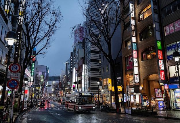 Городской пейзаж города японии
