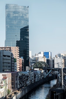 도시 풍경 일본 마천루