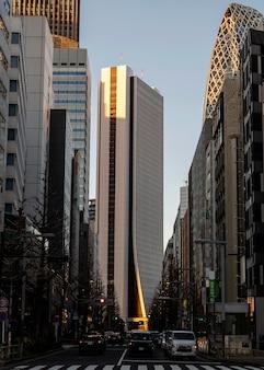 Городской пейзаж с небоскребами