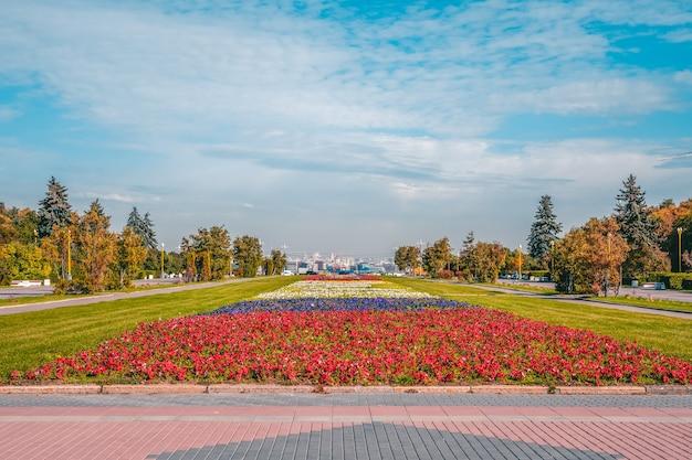 そばが丘のモスクワの都市造園花壇 Premium写真