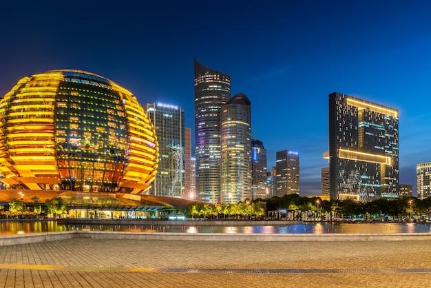 Urban nightscape and cbd architectural landscape