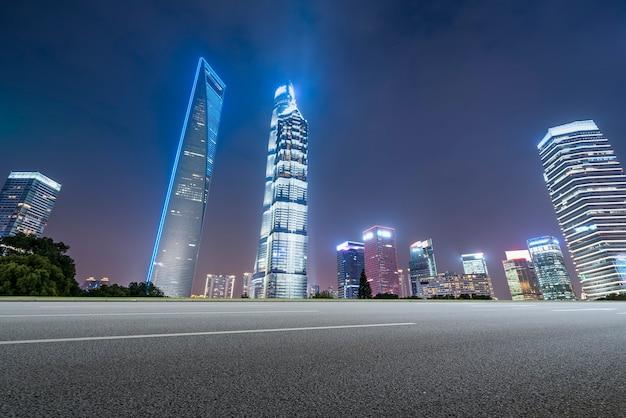 Urban roads and urban modern buildings