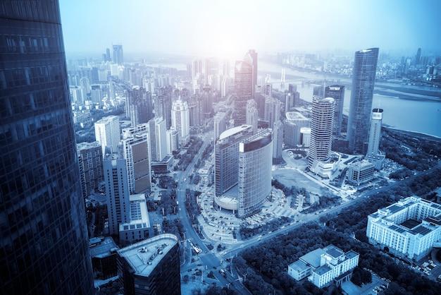 Urban scenery of nanchang new district,jiangxi,china