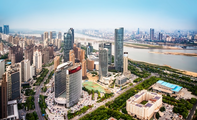 Urban scenery of nanchang new district,jiangxi,china