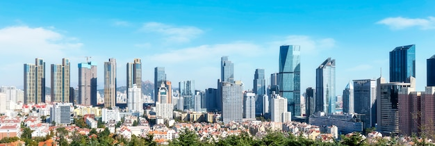 Urban skyline of qingdao
