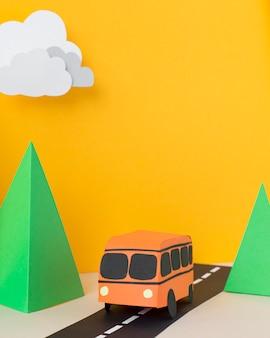 紙のスタイルの配置での都市交通