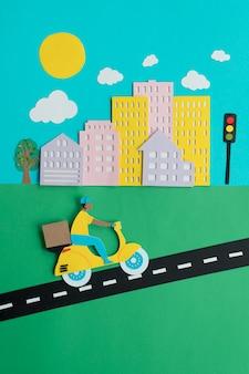紙のスタイルの構成における都市交通