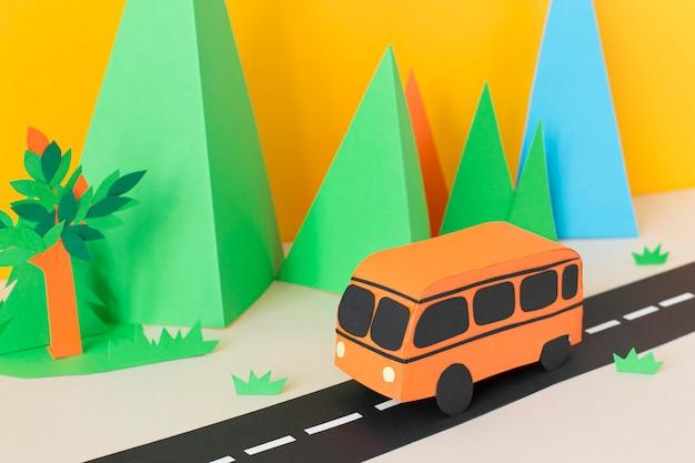 紙のスタイルでの都市交通