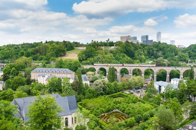 Urban views of luxembourg city in europe