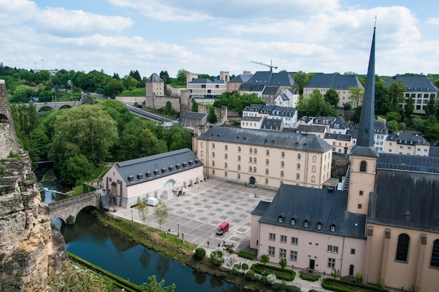 Urban views of luxemburg city in europe